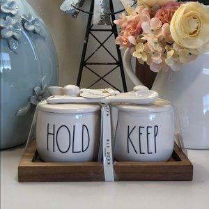 🆕 Rae Dunn HOLD & KEEP Jars with 2 Spoons
